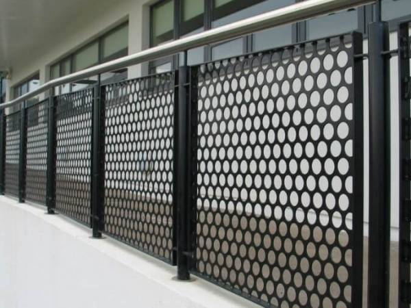 Perforated Metal Balustrade For Staircase And Balcony