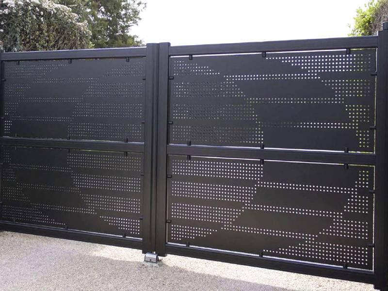 Perforated Metal For Gate And Door